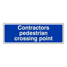 Contractors Pedestrian Crossing Point Sign (Landscape)