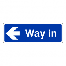 Way In Arrow Left Sign (Landscape)