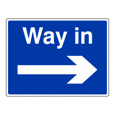 Way In Arrow Right Sign (Large Landscape)