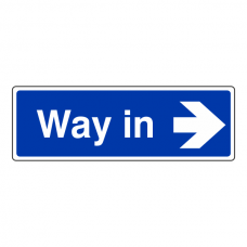 Way In Arrow Right Sign (Landscape)