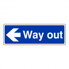 Way Out Arrow Left Sign (Landscape)