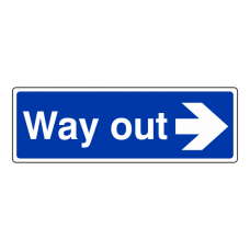 Way Out Arrow Right Sign (Landscape)