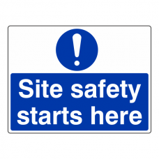 Site Safety Starts Here Sign (Large Landscape)