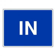 IN Sign (Large Landscape)