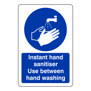 Instant Hand Sanitiser Sign
