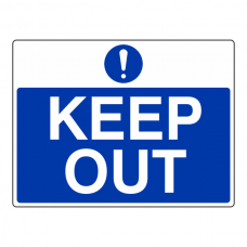 Keep Out Sign (Large Landscape)