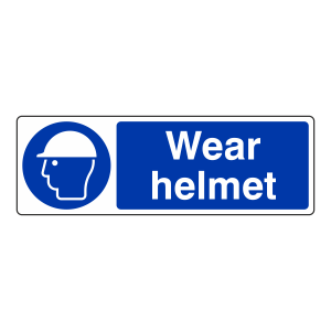 Wear Helmet Sign (Landscape)