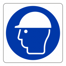 Safety Helmet Logo Sign