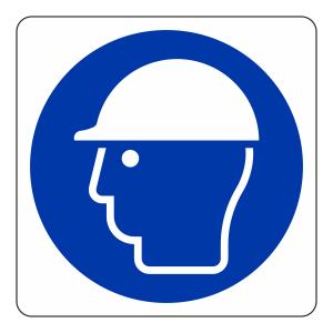 Safety Helmet Logo Sign