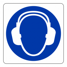 Ear Protection Logo Sign