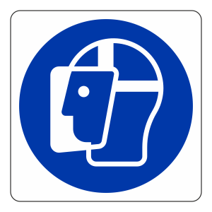 Face Shield Logo Sign