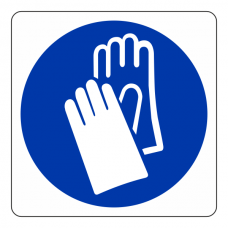 Wear Gloves Logo Sign