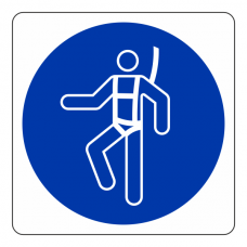 Safety Harness Logo Sign