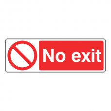 No Exit Sign (Landscape)