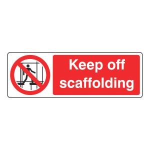 Keep Off Scaffolding Sign (Landscape)