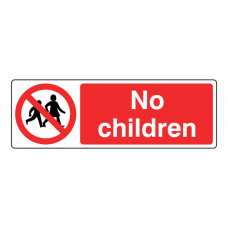 No Children Sign (Landscape)