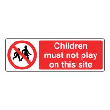 Children Must Not Play Sign (Landscape)