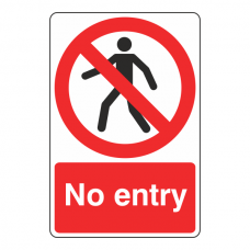 No Entry With Man Sign