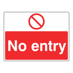 No Entry Sign (Large Landscape)