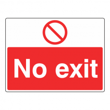 No Exit Sign (Large Landscape)