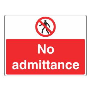 No Admittance Sign (Large Landscape)