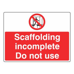Keep Off Scaffolding Sign (Large Landscape)