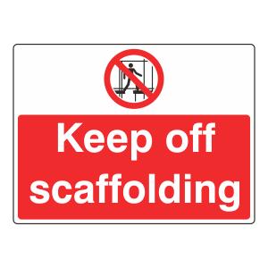 Scaffolding Incomplete Sign (Large Landscape)