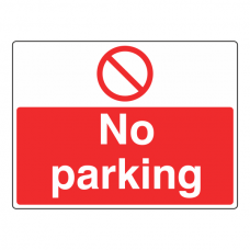 No Parking Sign (Large Landscape)
