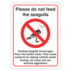 Do Not Feed Seagulls - Cause Nuisance Sign