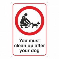 You Must Clean Up After Your Dog Sign