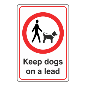 Keep Dogs On A Lead Sign