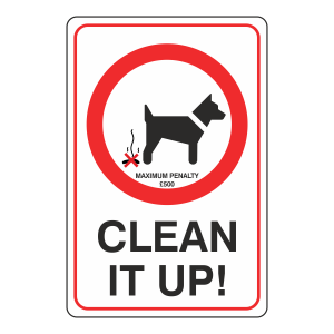 Clean It Up Sign with Penalty