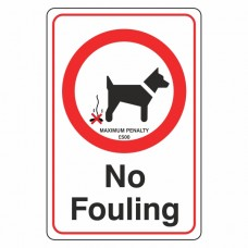 No Fouling Sign with Penalty