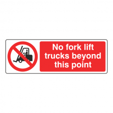 No Fork Lift Trucks Beyond This Point Sign (Landscape)