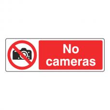 No Cameras Sign (Landscape)