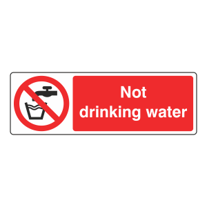 Not Drinking Water Sign (Landscape)