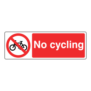 No Cycling Sign (Landscape)