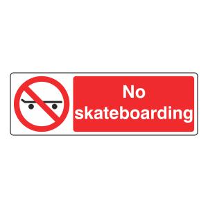 No Skateboarding Sign (Landscape)