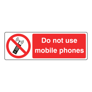 Do Not Use Mobile Phones Sign (Landscape)