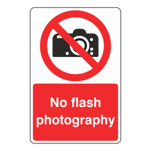 No Flash Photography Sign