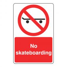 No Skateboarding Sign