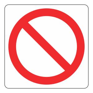 Prohibition Logo Sign