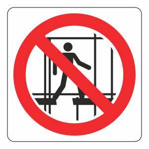 Keep Off Scaffolding Logo Sign