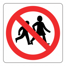 No Children Logo Sign