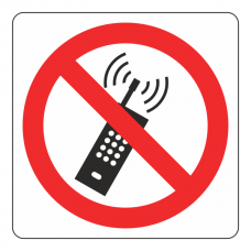 No Mobile Phones Logo Sign