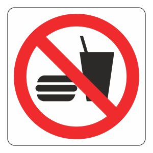No Food Or Drink Logo Sign