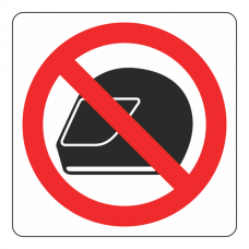 No Motorcycle Helmets Logo Sign