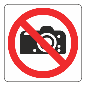 No Cameras Logo Sign