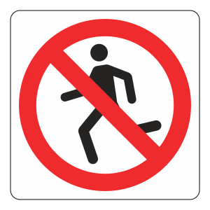 No Running Logo Sign