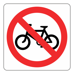 No Cycling Logo Sign